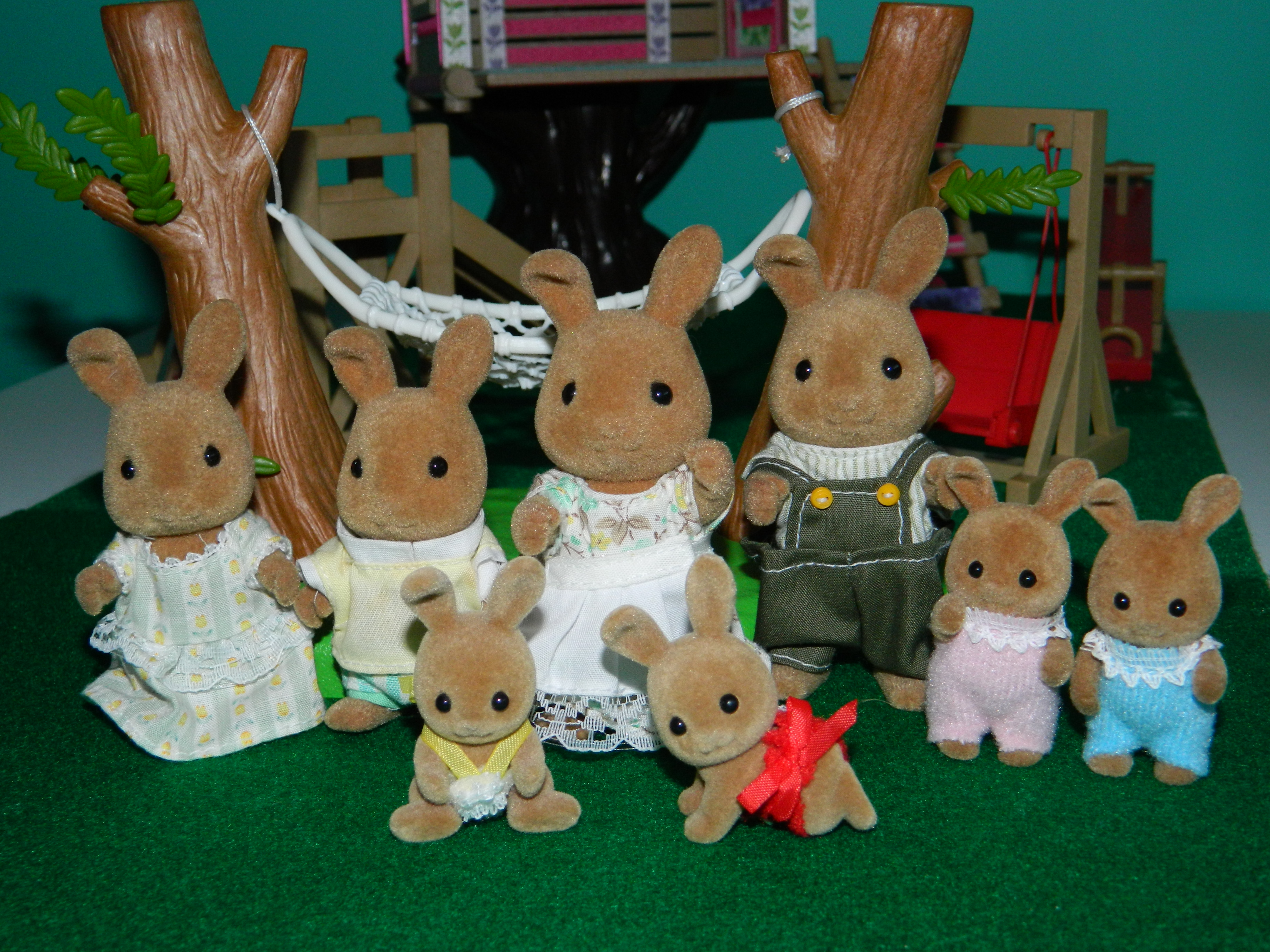 1995 dappledawn rabbit family. tomy. S&C babies flair version.